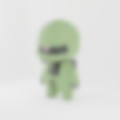 vuzzy_boolean_torso.stl Download free STL file MS-06C Zaku • 3D printing object, nickhaines7