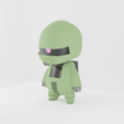 zaku toy render 7.png Download free STL file MS-06C Zaku • 3D printing object, nickhaines7