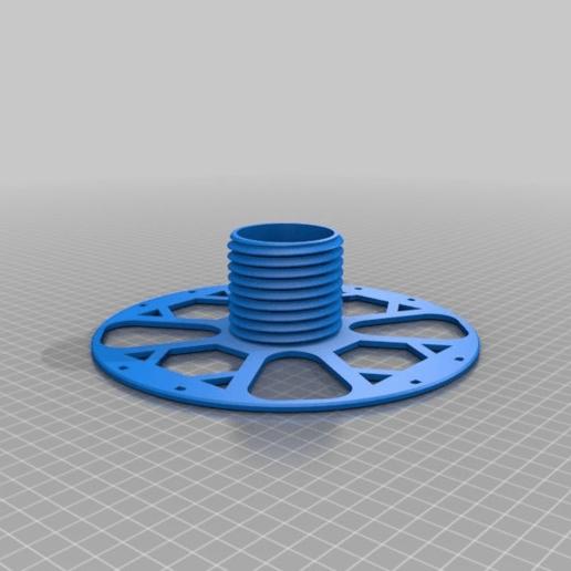 32fa229f2a9f5b31087d2b77a823bc65.png Download free STL file Kiwi3D.co.nz 1KG refill coil Master spool • 3D print template, Kiwi3D