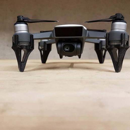 spark_legs_front_view.jpg Download free STL file DJI Spark Landing Gear / Extensions • 3D printer template, Kiwi3D