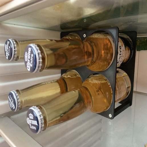 IMG_0527.JPG Download free STL file 4x Beer bottle Holder • 3D printer design, Kiwi3D