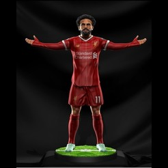 Image1.jpg Télécharger fichier STL Mohamed Salah - Liverpool - Figure du football • Plan pour impression 3D, Sports3D