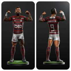 Descargar archivo STL Gabriel Barbosa - Gabigol - Fútbol STL • Diseño imprimible en 3D, Sports3D