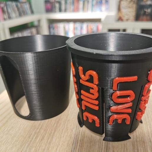 IMG_20200528_144626.jpg Download free STL file paper cup sleeve mindful II • 3D printable template, Modellismo