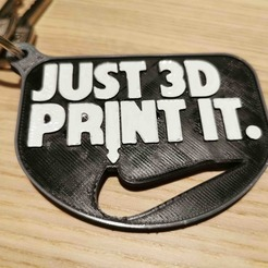 Download free 3D printer designs Keychain key tag, Modellismo