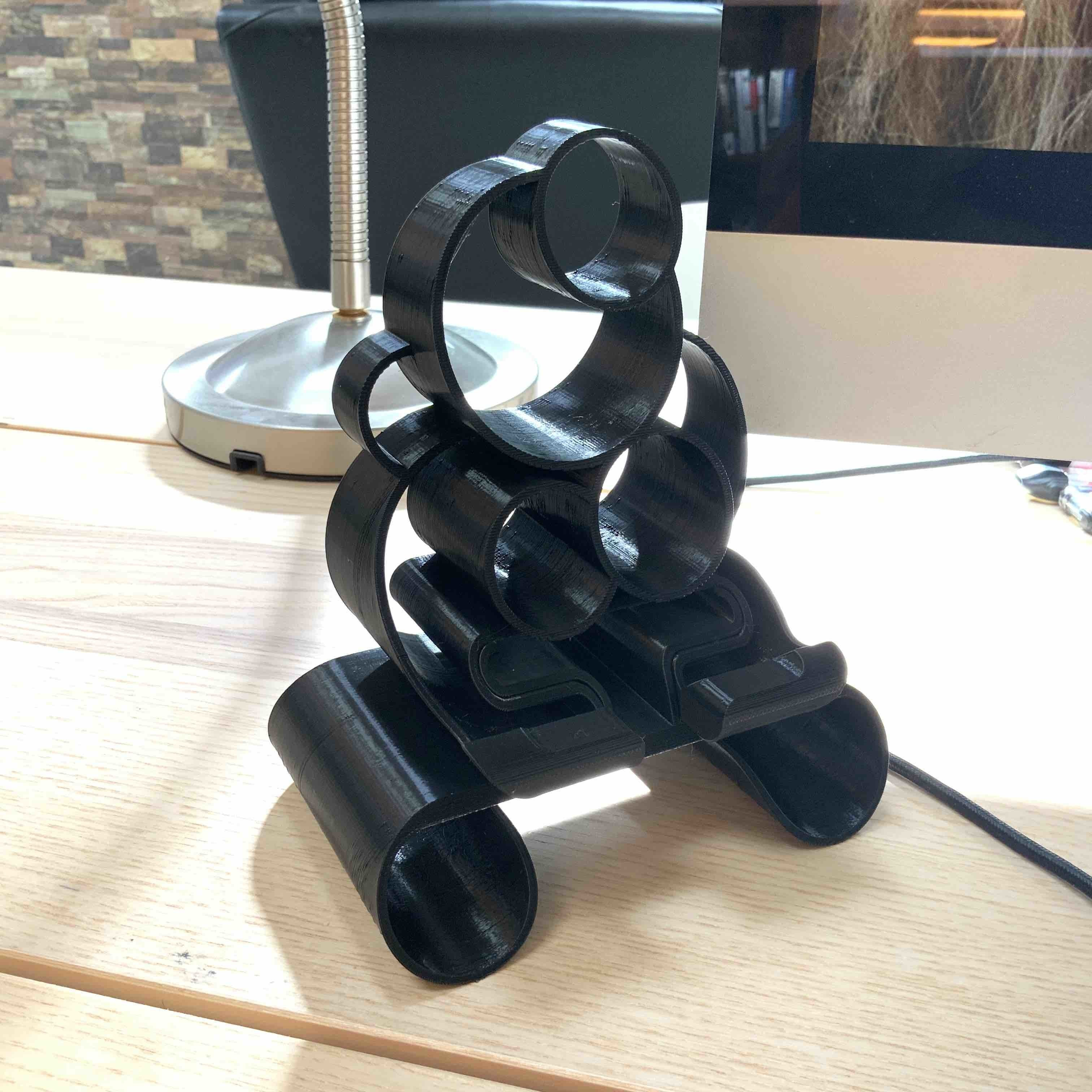 1.jpg Download free STL file Phone stand Bubbles • 3D printer template, Modellismo