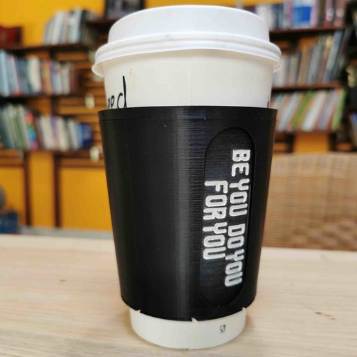 Download free 3D printing files Encouraging paper cup sleeve, Modellismo