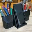 Download free STL file Phone and pen holder Zen, Modellismo