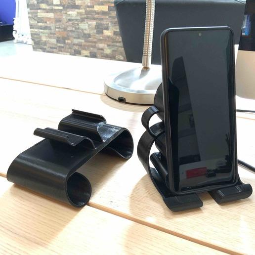 6.jpg Download free STL file Phone stand Bubbles • 3D printer template, Modellismo