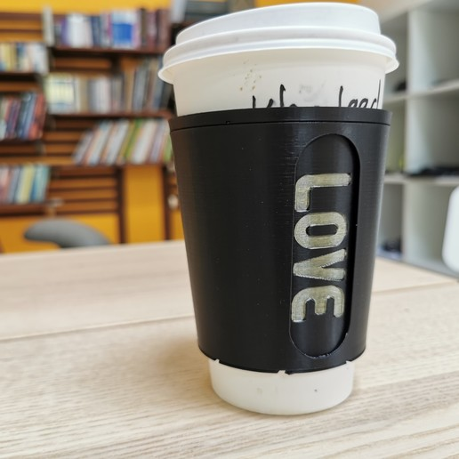 Download free 3D printing designs Mindful paper cup sleeve, Modellismo