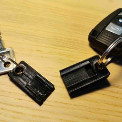 1.jpg Download free STL file Keychain Two-part • 3D printing model, Modellismo