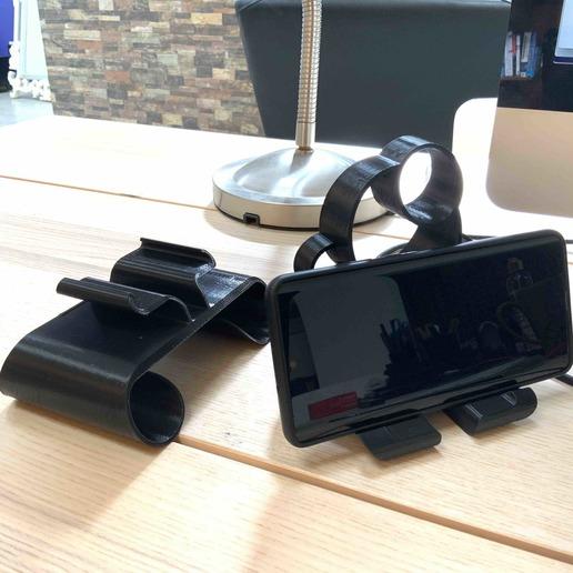 7.jpg Download free STL file Phone stand Bubbles • 3D printer template, Modellismo