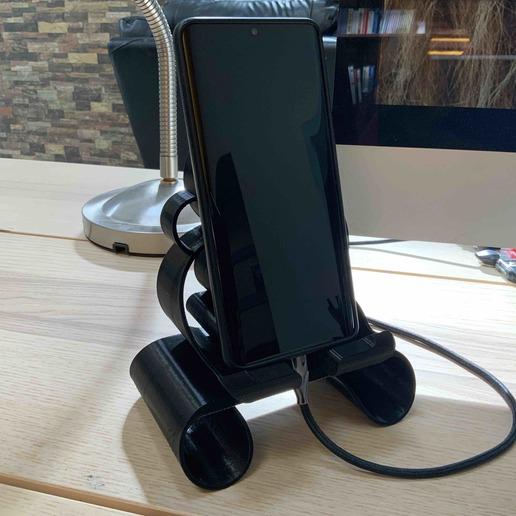 2.jpg Download free STL file Phone stand Bubbles • 3D printer template, Modellismo
