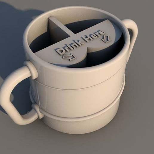 Télécharger fichier STL gratuit Un double mug ! • Plan pour impression 3D, menkheperra