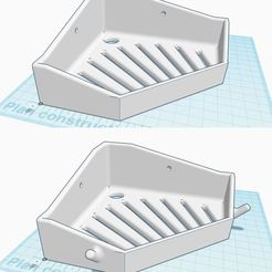 PorteSavondAngle.jpg Download free STL file Wall corner soap holders • 3D printable template, ptopin