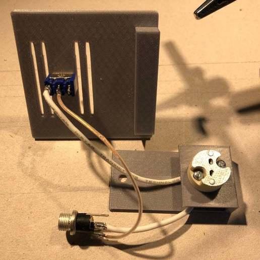 IMG_0771.jpeg Download free STL file PLAzzy Lamp (Dog), LED 12V 2.5W • 3D printer model, Seabird