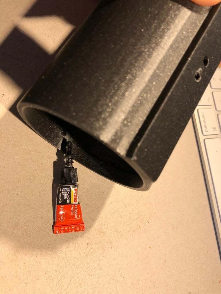 BSL_Tube_05d.JPG Download free STL file Bedside Lamp (Tube), LED 12V 2.5W • 3D printer model, Seabird