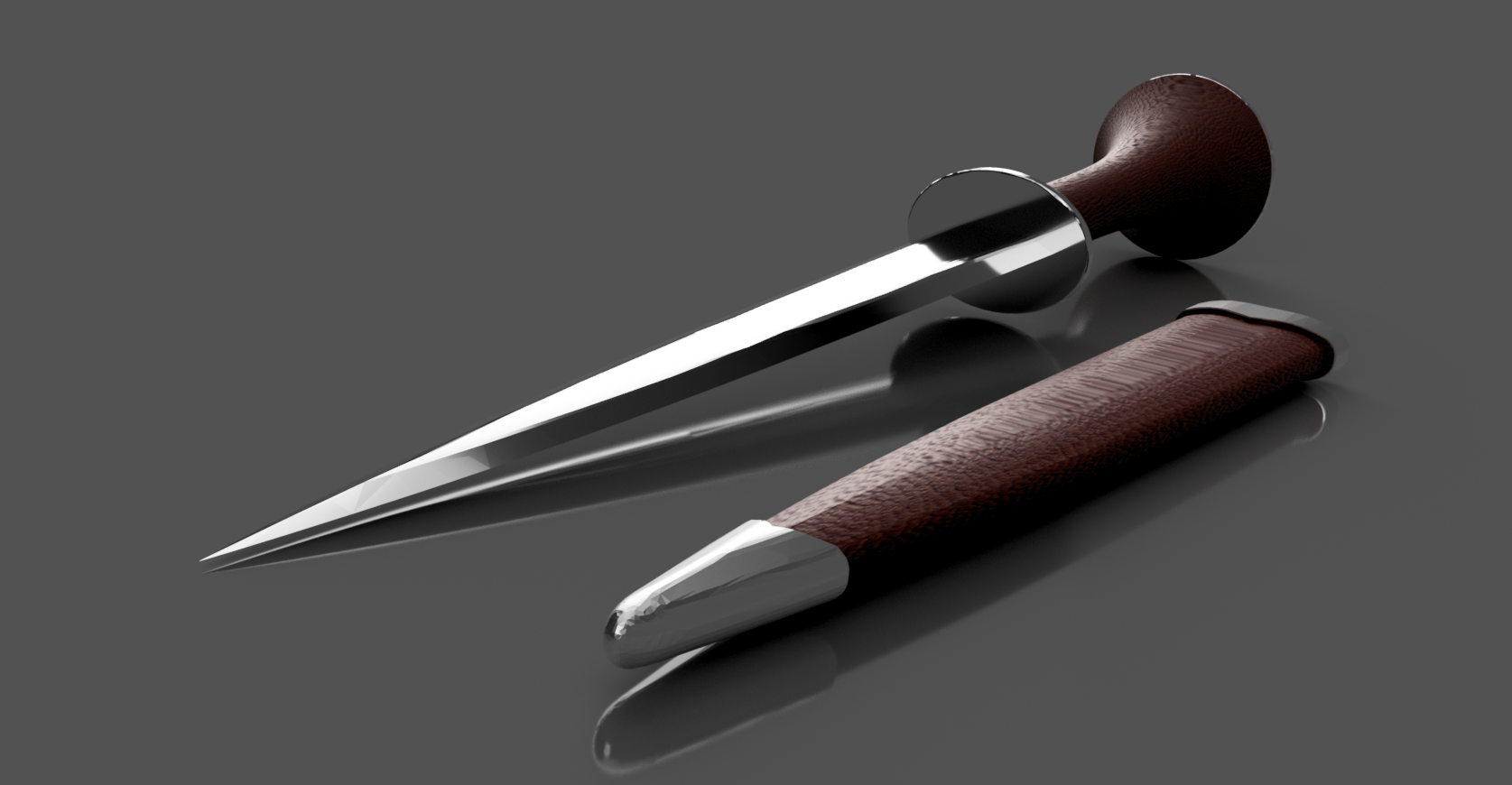 Ciri's Dagger_08.png Download free STL file Ciri's Dagger (Print without support) • 3D print template, Seabird