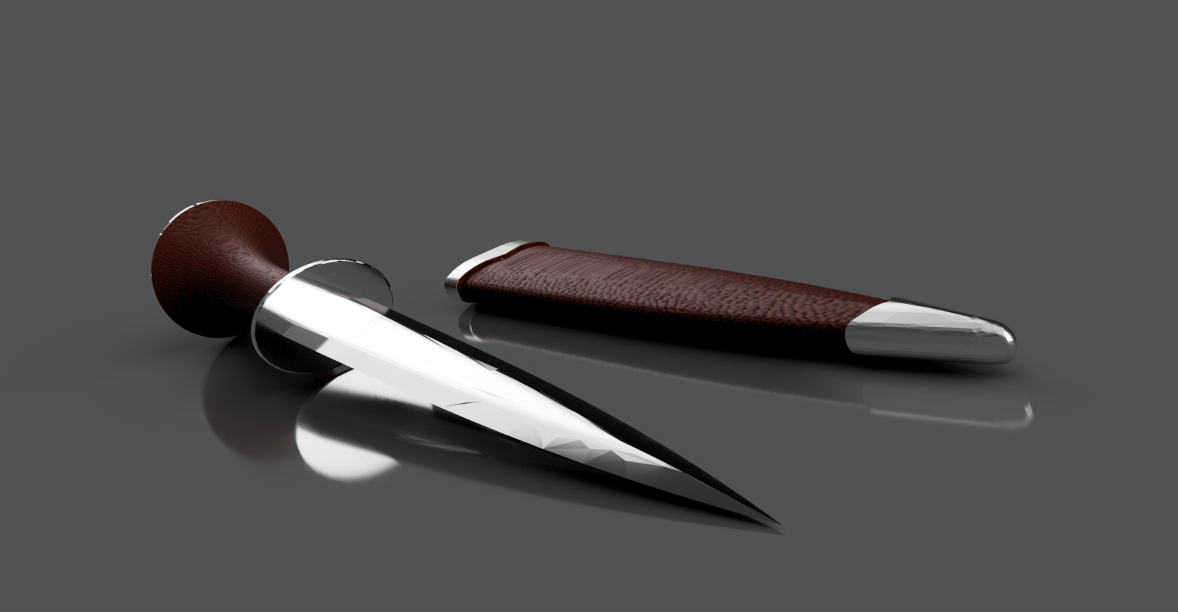 Ciri's Dagger_07.png Download free STL file Ciri's Dagger (Print without support) • 3D print template, Seabird