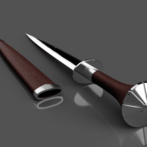 Siri's Dagger_05.png Download free STL file Ciri's Dagger (Print without support) • 3D print template, Seabird