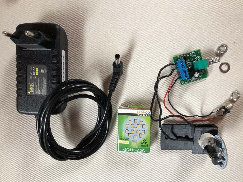 BSL_Tube_05b.jpg Download free STL file Bedside Lamp (Tube), LED 12V 2.5W • 3D printer model, Seabird