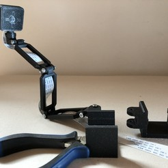 Download free STL file Prusa Mini Raspberry Pi Camera Mount - by Clip-Fastening, Seabird