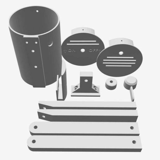 BSL_Tube_01a.jpeg Download free STL file Bedside Lamp (Tube), LED 12V 2.5W • 3D printer model, Seabird