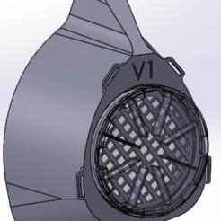 Descargar archivos 3D gratis máscara v1 protección de la corona, dr-maker
