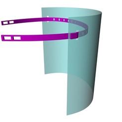 Captura_v7_5.jpg Télécharger fichier STL gratuit Écran facial universel Covid-19 • Plan pour imprimante 3D, DimensionArg