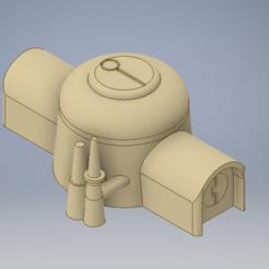barracks iso.PNG Download STL file Tau barracks terrain  • 3D printing template, 3dp_terrain