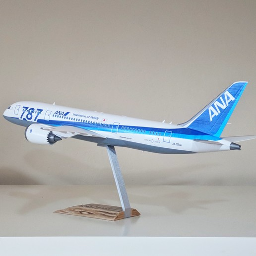 8.jpg Download STL file Boeing 787-8 Dreamliner - 1:144 • 3D printable model, CLERX