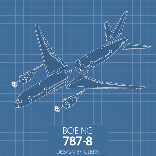Exploded.png Download STL file Boeing 787-8 Dreamliner - 1:144 • 3D printable model, CLERX