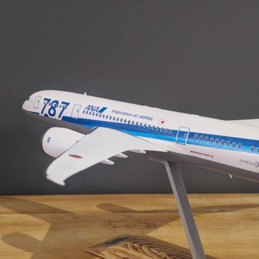 12.jpg Download STL file Boeing 787-8 Dreamliner - 1:144 • 3D printable model, CLERX