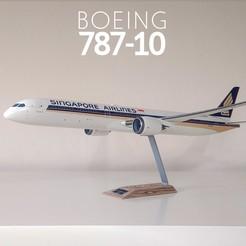 1.jpg Download STL file Boeing 787-10 Dreamliner - 1:144 • Model to 3D print, CLERX