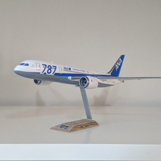 3.jpg Download STL file Boeing 787-8 Dreamliner - 1:144 • 3D printable model, CLERX