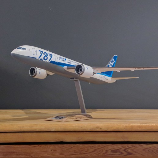 10.jpg Download STL file Boeing 787-8 Dreamliner - 1:144 • 3D printable model, CLERX
