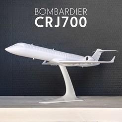 Télécharger STL BOMBARDIER CRJ700 - 1:100, CLERX
