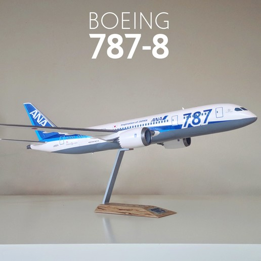 1.jpg Download STL file Boeing 787-8 Dreamliner - 1:144 • 3D printable model, CLERX