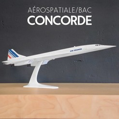 1.jpg Download STL file Concorde – The Supersonic Legend - 1:144 • 3D printable object, CLERX