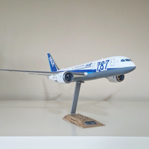 5.jpg Download STL file Boeing 787-8 Dreamliner - 1:144 • 3D printable model, CLERX
