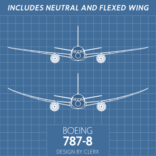 Wings.png Download STL file Boeing 787-8 Dreamliner - 1:144 • 3D printable model, CLERX
