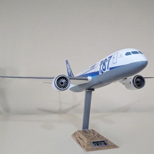 2.jpg Download STL file Boeing 787-8 Dreamliner - 1:144 • 3D printable model, CLERX