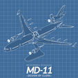 Download STL files MCDONNELL DOUGLAS MD-11 - The Iconic Trijet - 1:144, CLERX