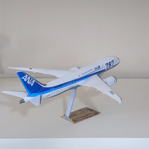 7.jpg Download STL file Boeing 787-8 Dreamliner - 1:144 • 3D printable model, CLERX