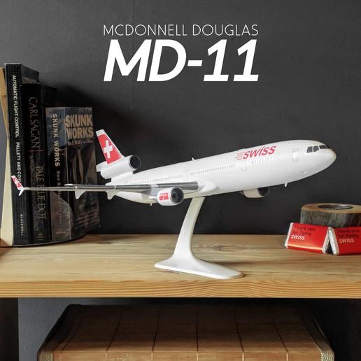 Télécharger fichier imprimante 3D MCDONNELL DOUGLAS MD-11 - Le trijet iconique - 1:144, CLERX