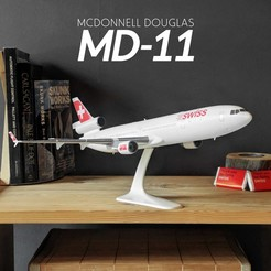 1.jpg Download STL file MCDONNELL DOUGLAS MD-11 - The Iconic Trijet - 1:144 • 3D printer model, CLERX