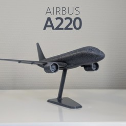 Cover.jpg Download free STL file Airbus A220-100 - Modern Jet Airplane - 1:144 - Free • 3D printing model, CLERX