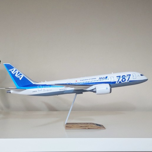4.jpg Download STL file Boeing 787-8 Dreamliner - 1:144 • 3D printable model, CLERX