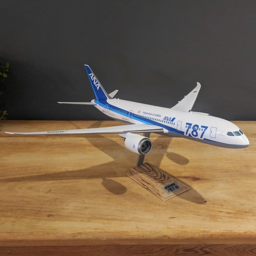 14.jpg Download STL file Boeing 787-8 Dreamliner - 1:144 • 3D printable model, CLERX