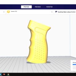 gia re.png Download STL file Zenitco RK 3 | Ak Alphaking | Piston Grip | Gel Blaster • 3D printable model, Guzshop